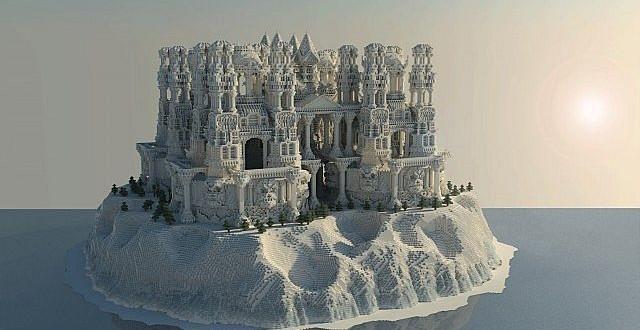 Quartz Castle Island Minecraft Building Inc