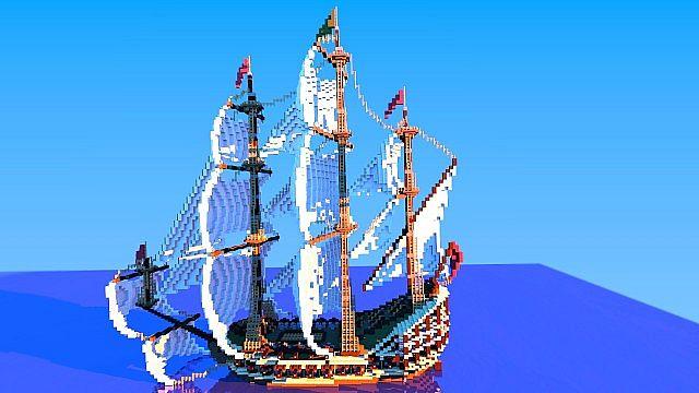 Galleon Aurora Ship Minecraft Building Inc