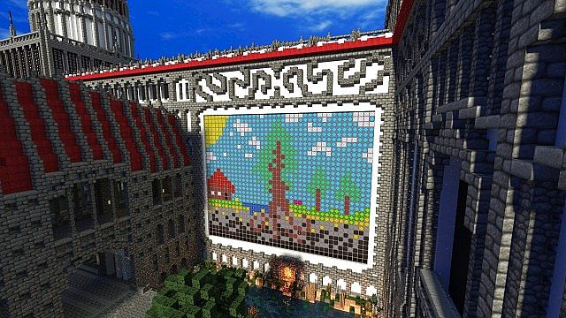Palace Of Life Floating Minecraft Building Inc