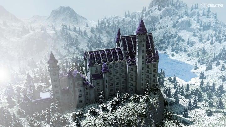 Castle Neuschwanstein Scale 1 1 Minecraft Building Inc