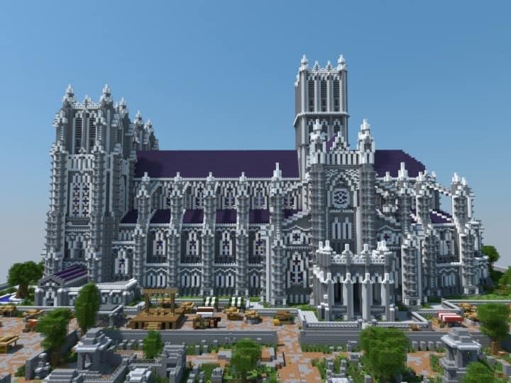 XVII Century Cathedral Amp City Minecraft Building Inc