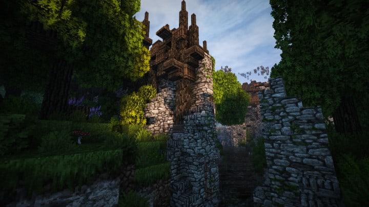 Stadtfelsen A Medieval Castle Minecraft Building Inc
