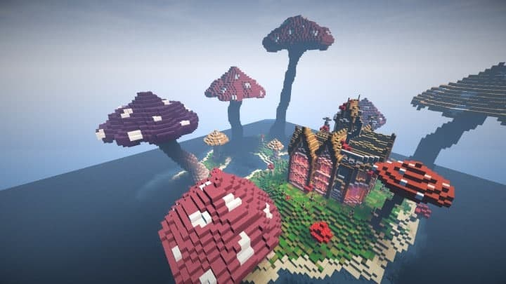 The Mushroom Mansion Minecraft Building Inc