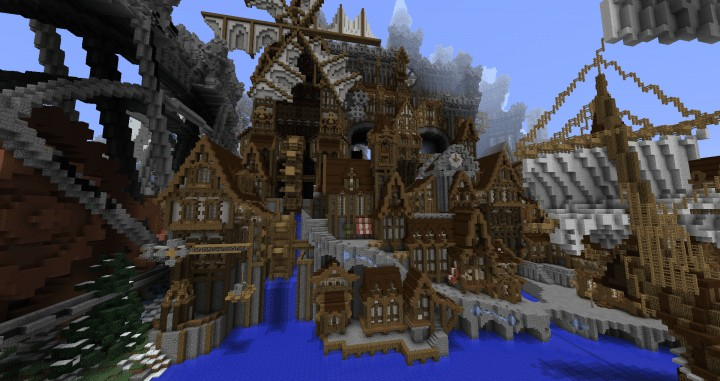 Conderial Steampunk City Minecraft Building Inc