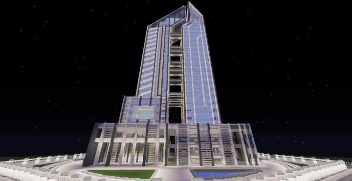 Quartz Tower 8 Minecraft Building Inc