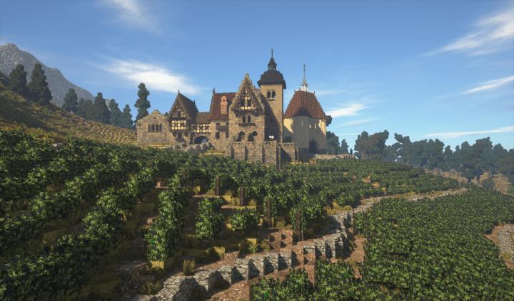 Rich Medieval Vineyard Minecraft Building Inc