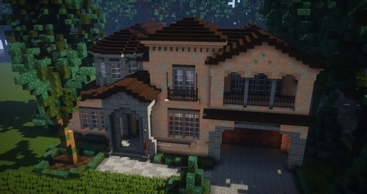 Mediterranean Style Traditional House Minecraft