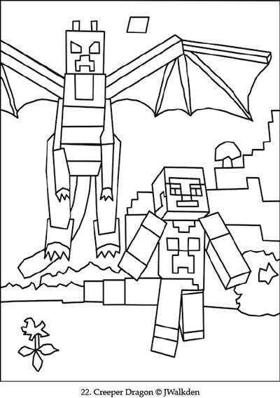 minecraft ender dragon  a free minecraft coloring page
