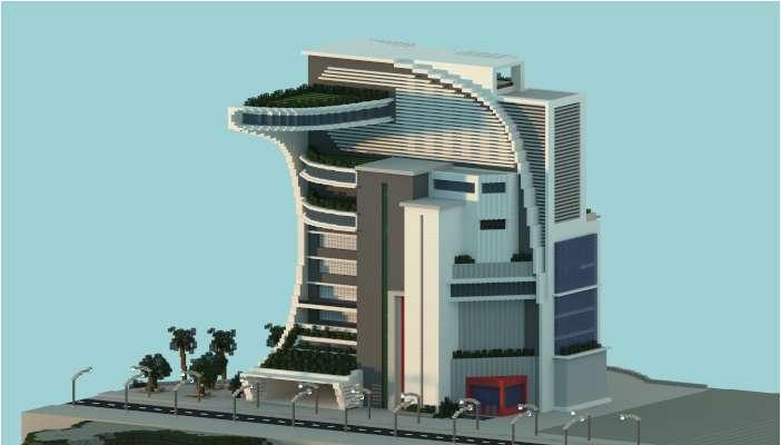 Nuevo Edificio Futurista con balcones