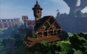 Escuela Medieval Minecraft