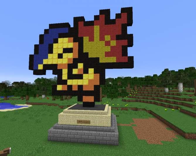 Pokemon pixel art minecraft
