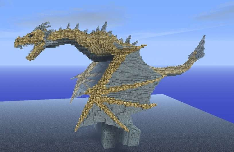 Dragon skyrim minecraft