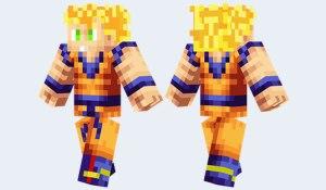 son goku minecraft skin