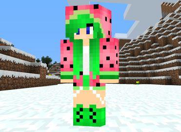 Melon Girl Skin Minecraft