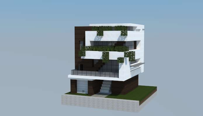 Nueva Casa moderna 16x16 para Minecraft