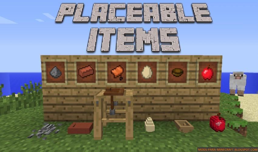 Placeable Items Mod para Minecraft 01/07/10