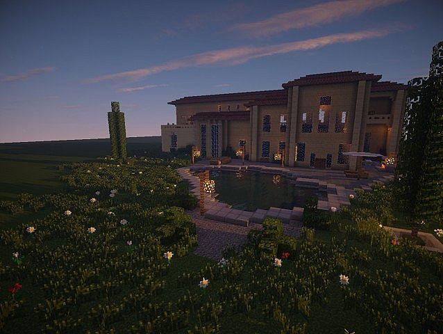 The Sandstone Mansion Minecraft House Design