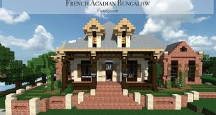 Best French Acadian Bungalow Minecraft House Design Myasthenia
