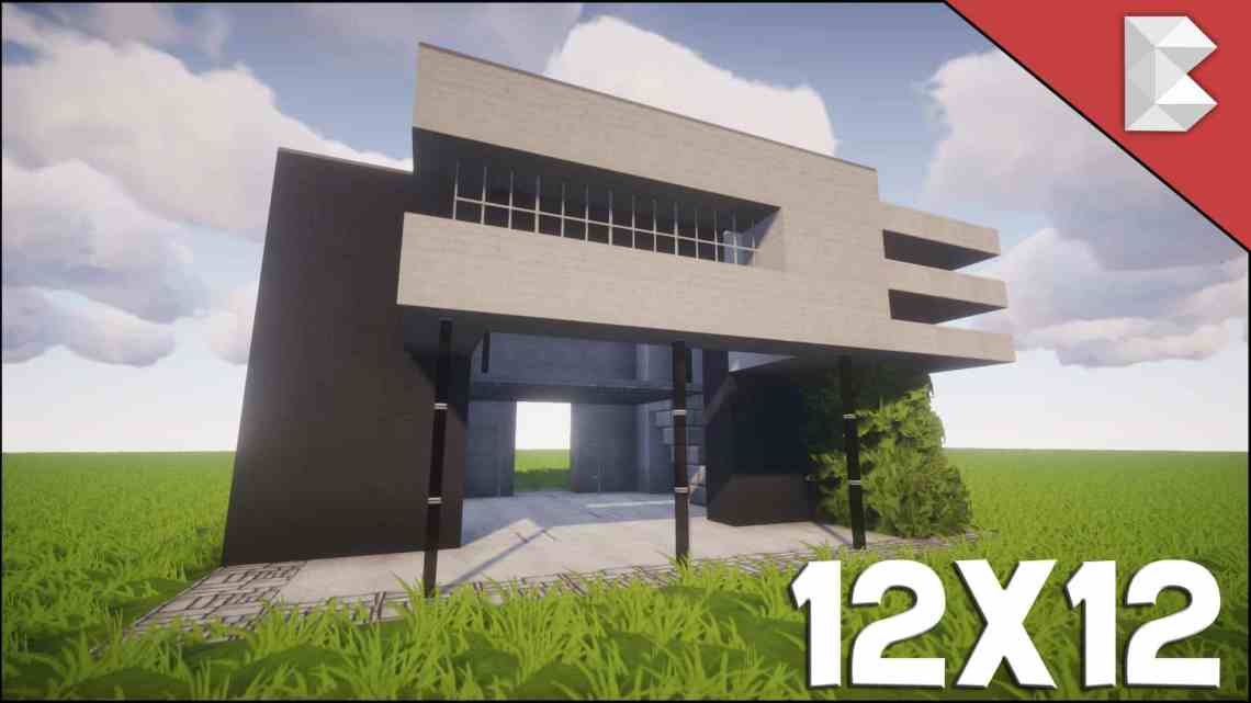 Minecraft: 12X12 Modern House Tutorial   Easy To Follow ...
