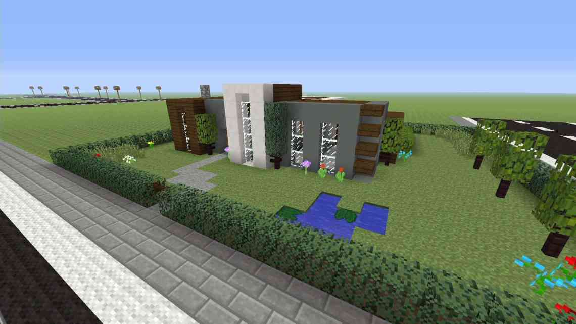 How to build a simple modern house - Minecraft House Design