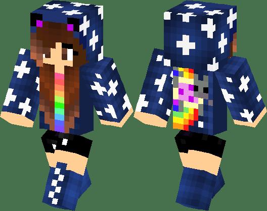 Nyan Cat Girl Minecraft Skin Minecraft Hub
