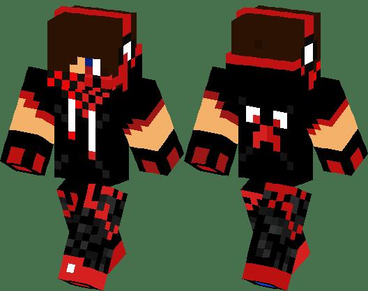 Red Blue Creeper Boy Minecraft Skin Minecraft Hub