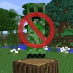 No Mob Spawning on Trees Mod