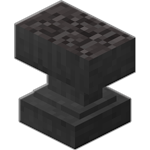 Highly damaged anvil in minecraft