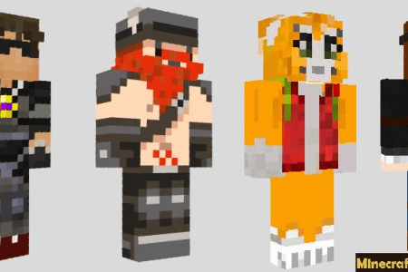 Minecraft Youtubers Skins And Names Path Decorations Pictures - Skins para minecraft pe android