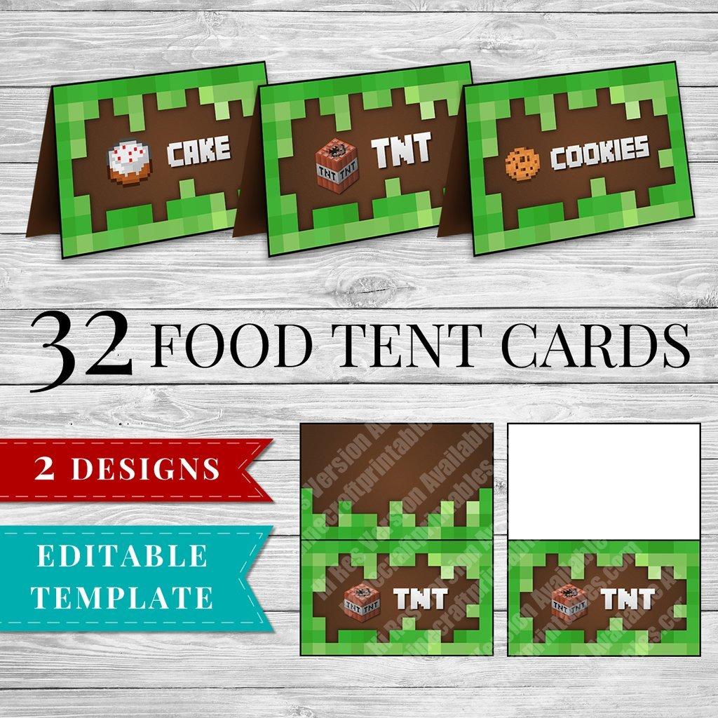Printable Minecraft Food Labels