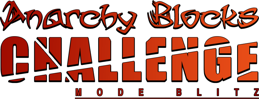 Logo Anarchy Blocks Challenge avec contours noirs