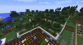 This is a terraced display for the trees I've collected from Pam's Harvestcraft.
