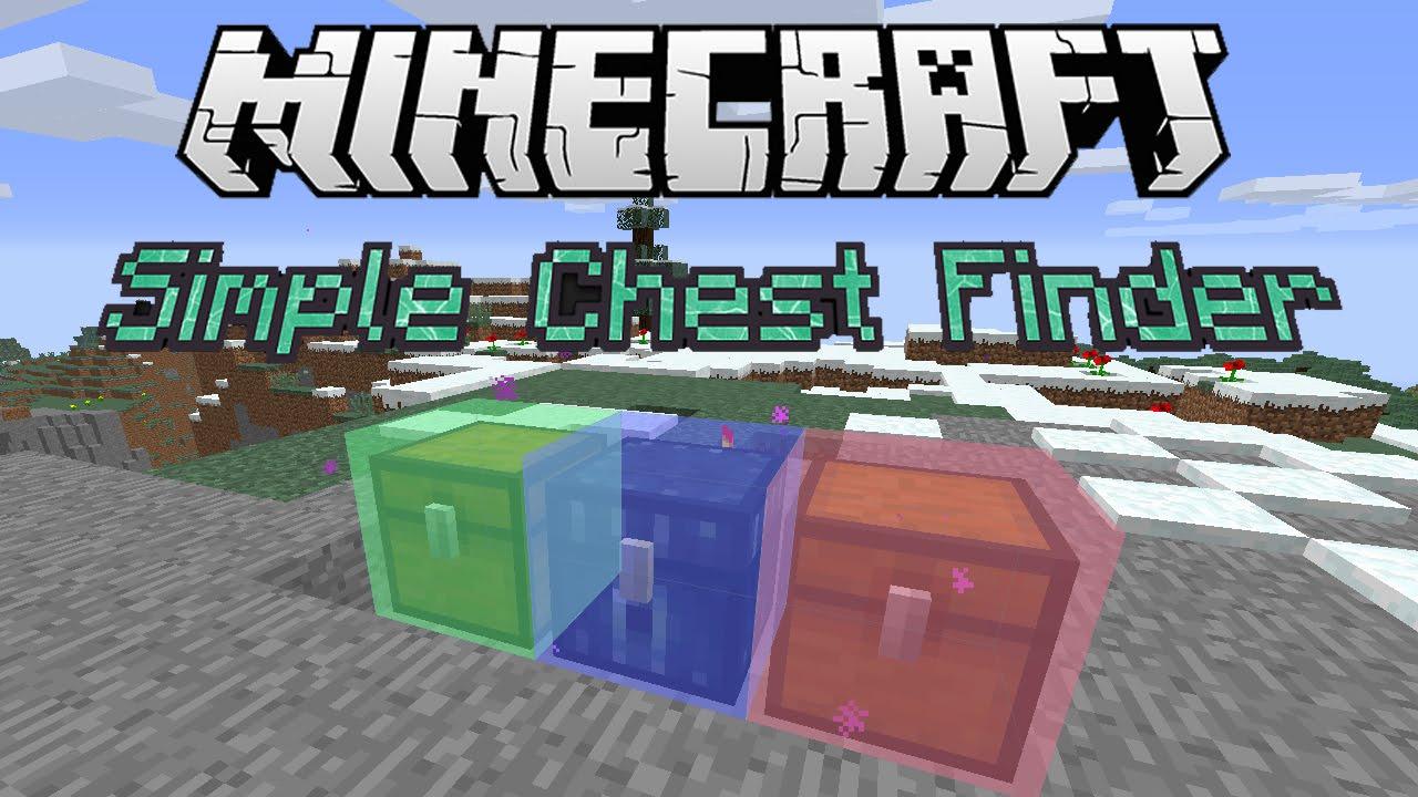 The Simple Chest Finder Mod For Minecraft - Minecraft spieler finden mod