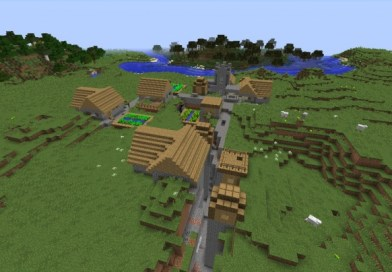 [PC 1.9] Rare village with ravine going through it!