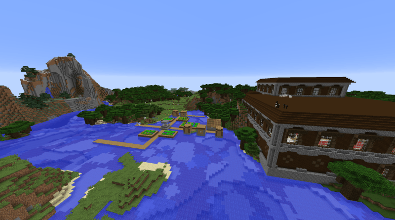 minecraft 1.11 woodland mansion seed at spawn