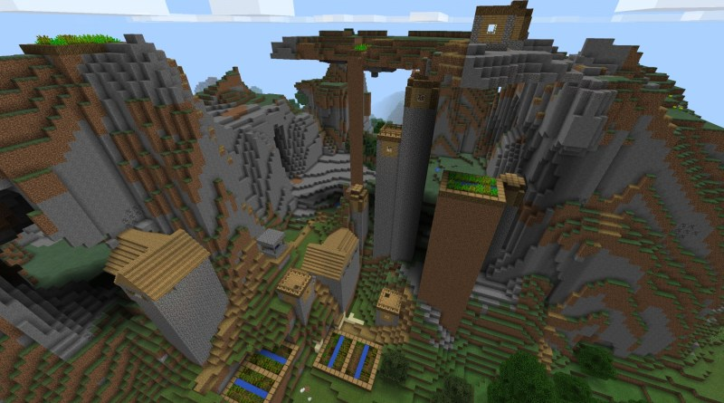 PE 1 1] Awesome Floating Village! | Minecraft Seeds