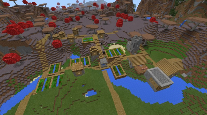 minecraft pe seeds with villages 2017