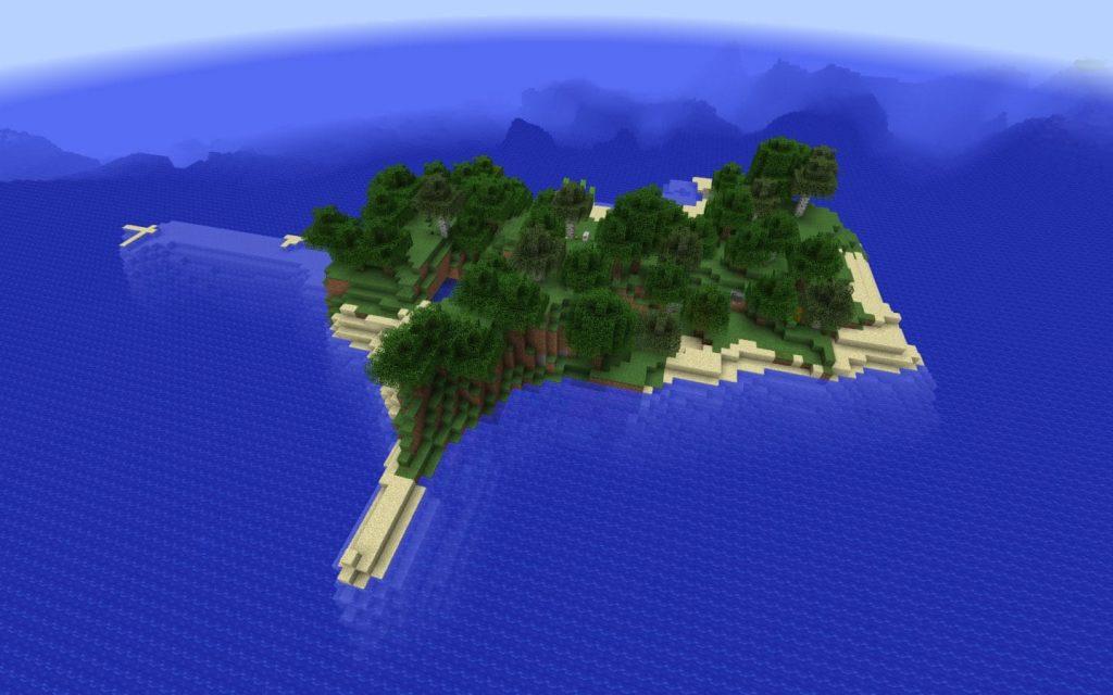 Ocean Monument By Deep Ocean Island Minecraft Seed HQ