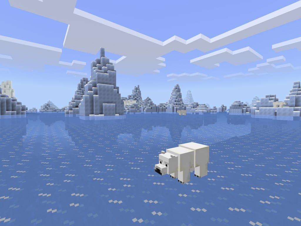 Island On Edge Of Large Iceberg Field Minecraft Seed HQ