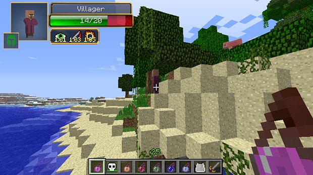 Damage Indicators Mod for Minecraft 1.8