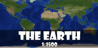 The recreation earth map for Minecraft