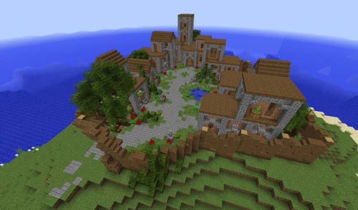 Village of the Island Map for Minecraft