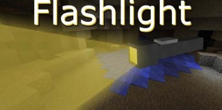 Flashlight mod for Minecraft