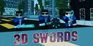 3D Sword Resource Pack for Minecraft