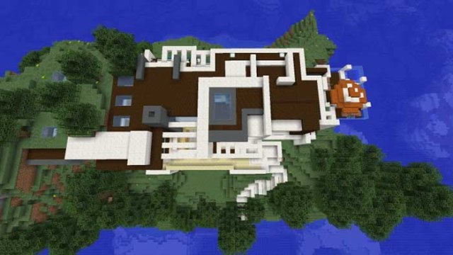 Modern redstone smart house map for minecraft 1 9 1 8 9 for Modern house map
