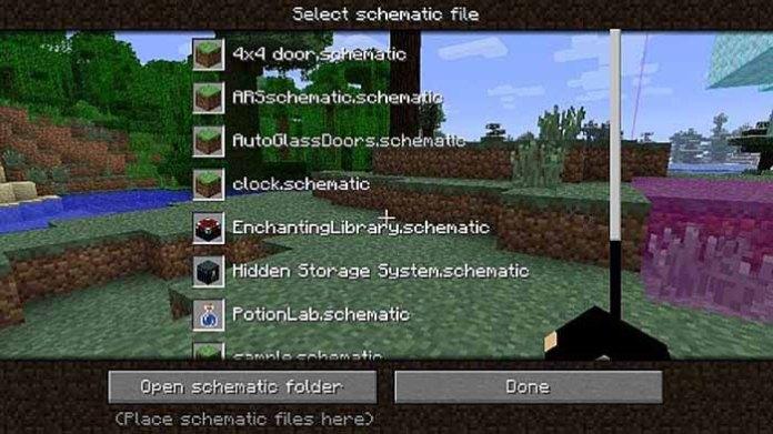 Schematica Mod for Minecraft 1.7.10
