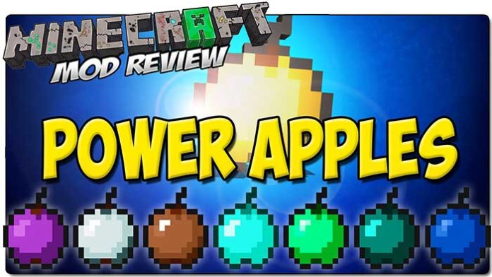 Power Apples Mod for Minecraft 1.9/1.8/1.7.10 | MinecraftSide