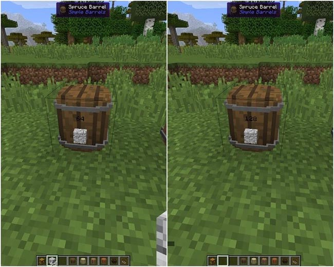 Simple Barrels Mod for Minecraft