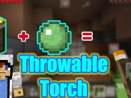 Throwable Torch Mod for Minecraft