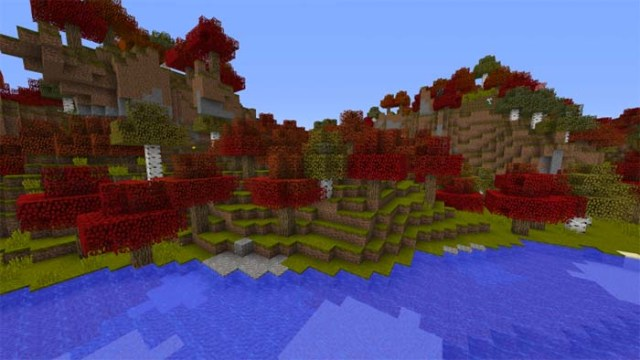 Autumn Overlay Resource Pack for Minecraft